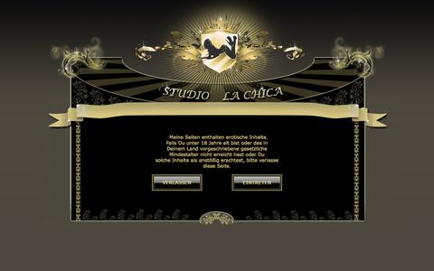 Screenshot of Home Page la-chica.at - Studio La Chica Hostessen Wien - captured Sept. 19, 2014