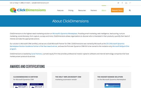 About ClickDimensions Marketing Automation