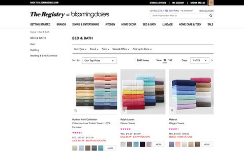Bed and Bath Products - Bloomingdale's Wedding & Gift Registry
