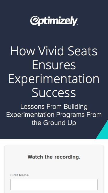 How Vivid Seats Ensures Experimentation Success
