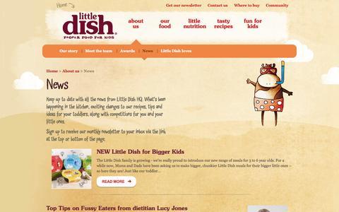 Screenshot of Press Page littledish.co.uk - Little Dish - News - captured Sept. 30, 2014