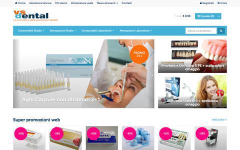 Screenshot of Home Page vsdental.it - VS Dental | l'e-commerce delle promozioni dentali - captured Feb. 13, 2016