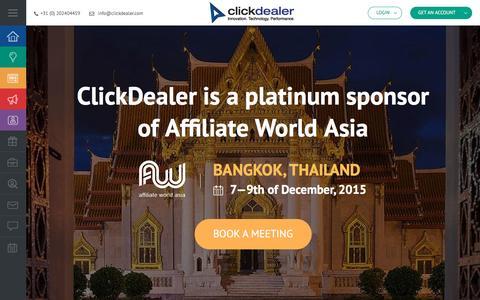 Screenshot of Home Page clickdealer.com - ClickDealer - captured Dec. 9, 2015