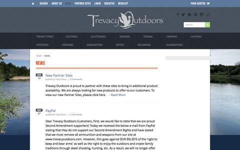 Screenshot of Press Page trevacyoutdoors.com - News | Trevacy Outdoors - captured Dec. 16, 2016