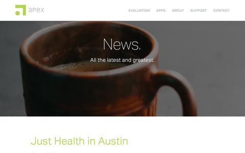 Screenshot of Press Page apexeval.org - Apex — News. - captured Nov. 21, 2016