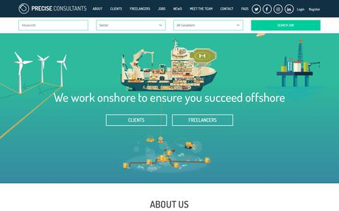 Screenshot of Home Page preciseconsultants.co.uk - Precise Consultants – Offshore and marine recruitment agency - captured July 21, 2018