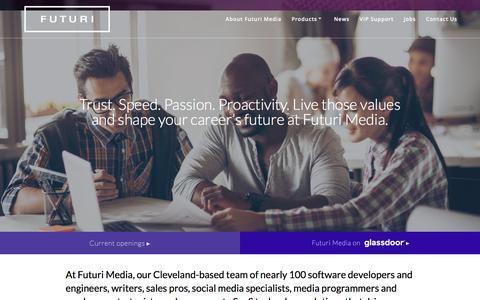 Screenshot of Jobs Page futurimedia.com - Futuri Media: Technology and Software Engineer Jobs & Career Opportunities - captured Jan. 20, 2018