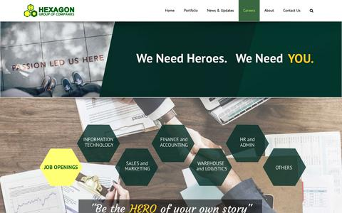 Screenshot of Jobs Page hexagon.com.ph - Careers | Hexagon Group of Companies - captured Sept. 28, 2018