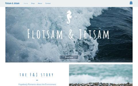 Screenshot of Home Page flotsamandjetsam.com.au - flotsamandjetsam - captured Oct. 10, 2018