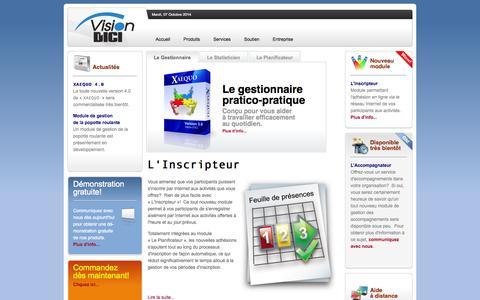 Screenshot of Home Page visiondici.com - Vision D'ICI - captured Oct. 7, 2014
