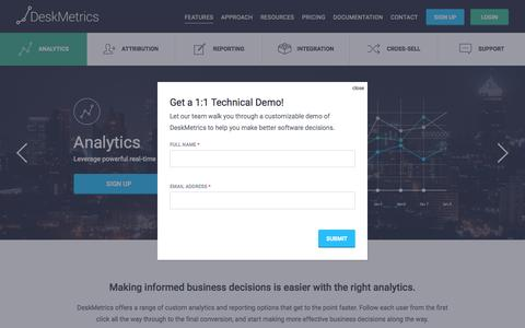 Analytics - Deskmetrics