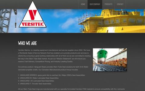 Screenshot of About Page versitec.ca - Our Company  |  Versitec Marine - captured Oct. 18, 2018