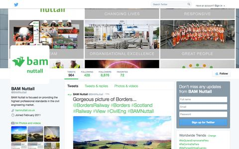 Screenshot of Twitter Page twitter.com - BAM Nuttall (@BAMNuttall) | Twitter - captured Oct. 23, 2014