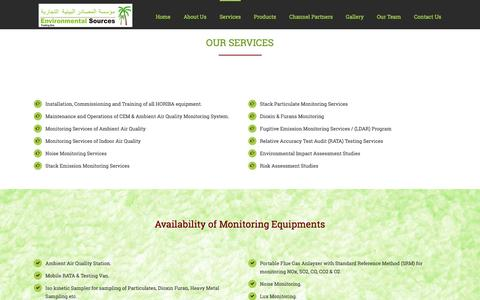 Screenshot of Services Page est-ksa.com - Environmental Sources Trading -   Services - captured Nov. 9, 2016