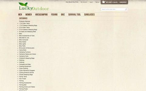 Screenshot of Site Map Page luckyoutdoor.com - Site Map - captured Sept. 19, 2014