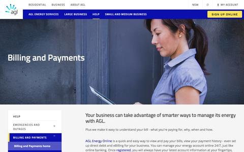 Billing and Payments | AGL