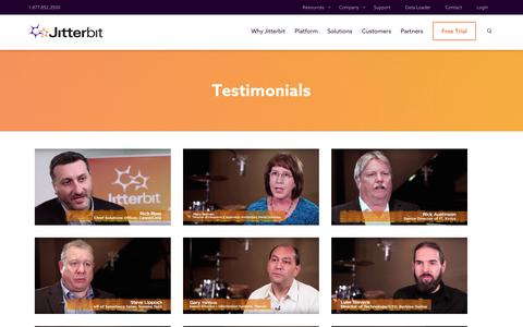 Screenshot of Testimonials Page jitterbit.com - Testimonials Archives | Jitterbit - captured Nov. 26, 2016