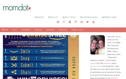 Screenshot of Home Page momdot.com - MomDot - parenting, products, and DIY for family - - captured Oct. 1, 2015