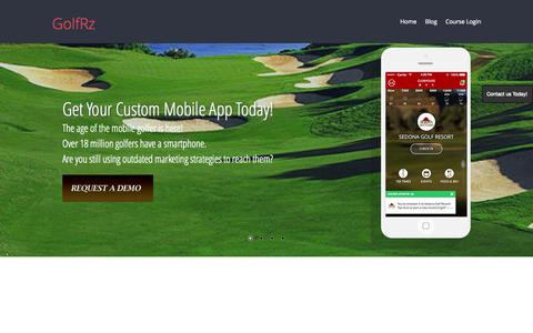 Screenshot of Home Page golfrz.com - GolfRz - captured June 17, 2015