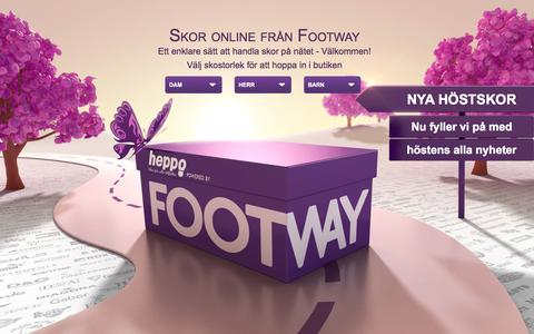 Screenshot of Home Page footway.se - Skor online - Skor på nätet | FOOTWAY - captured Sept. 16, 2014