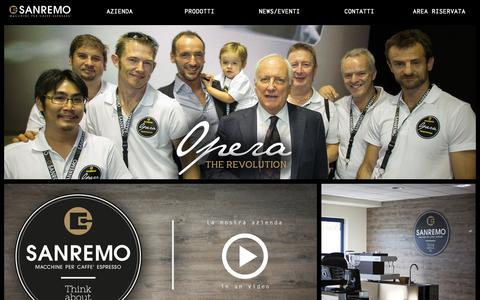 Screenshot of Home Page sanremomachines.com - Home - Sanremo machines - captured Oct. 3, 2014