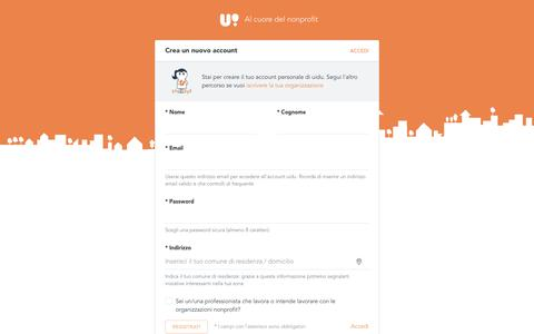 Screenshot of Signup Page uidu.org - Crea un nuovo account / uidu - captured June 25, 2017