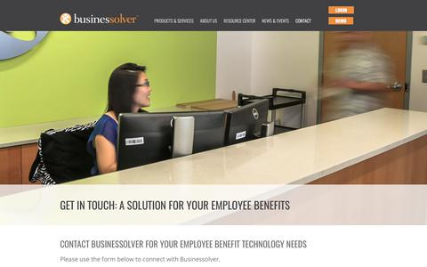Screenshot of Contact Page businessolver.com - Contact Us | Businessolver Benefits Technology - captured June 3, 2017
