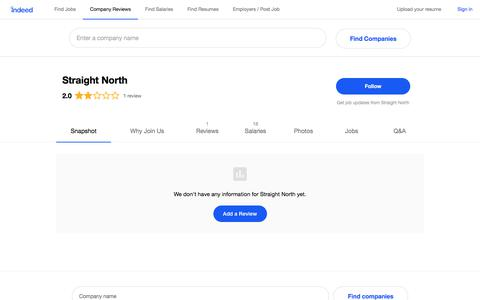 Straight North Careers and Employment   Indeed.com