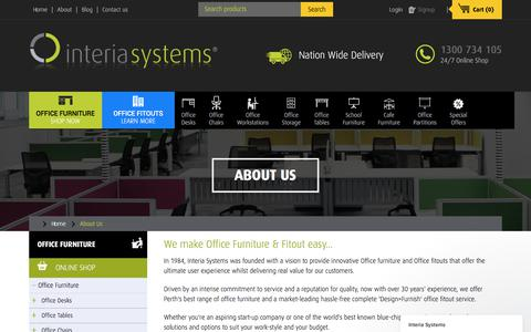 Screenshot of About Page interiasystems.com.au - About Us - Office Furiture Specialists Perth | Interia Systems - captured June 8, 2017