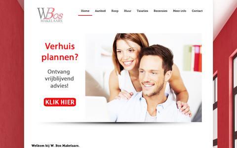 Screenshot of Home Page wbosmakelaars.nl - W.Bos Makelaars: omgeving Heemstede | W. Bos Makelaars: Makelaars voor Heemstede en omgeving - captured Oct. 7, 2014