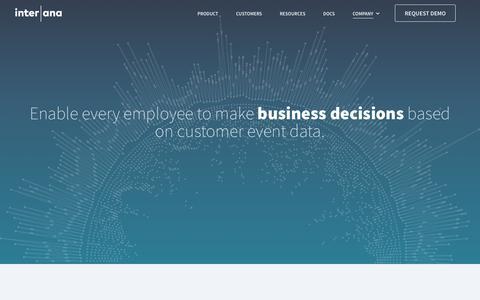 Screenshot of About Page interana.com - Company | Interana - captured July 25, 2018