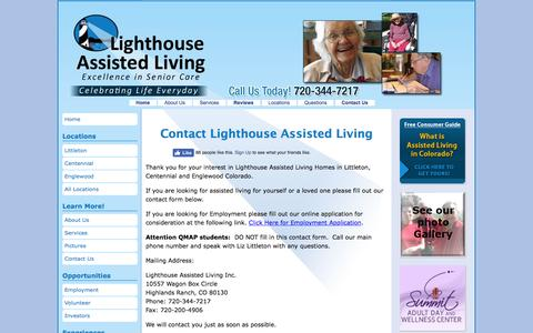 Screenshot of Contact Page lighthouseassistedliving.com - Contact Assisted Living Littleton   Lighthouse Assisted Living - captured Nov. 8, 2016