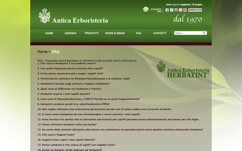Screenshot of FAQ Page herbatint.it - Herbatint   colorazione senza ammoniaca, colorazioni capelli con estratti vegetali, colorazioni capelli senza resocina, colorazioni semipermanenti capelli   - captured Oct. 4, 2014