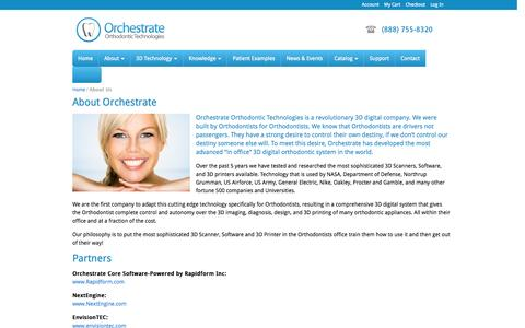Screenshot of About Page orchestrate3d.com - About Us - captured Sept. 17, 2014