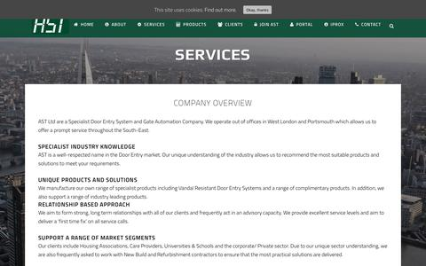 Screenshot of Services Page astlondon.co.uk - Security Management | Security Services | London | AST London - captured Oct. 7, 2017