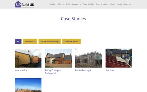 Screenshot of Case Studies Page sipbuilduk.co.uk - SIP Build UK Case Studies of Buildings using Structural Insulated Panels - captured May 26, 2017