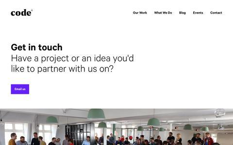 Screenshot of Contact Page codecomputerlove.com captured March 17, 2019