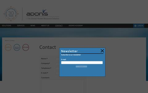 Screenshot of Contact Page adonis.no - Contact - Adonis AS - captured Oct. 3, 2018