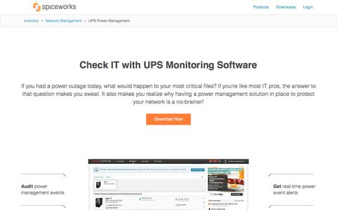 Free UPS Monitoring Software from Spiceworks
