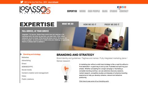 Screenshot of About Page losasso.com - Expertise   LoSasso   Chicago Interactive Marketing Agency   LoSasso Integrated Marketing - captured Oct. 3, 2014