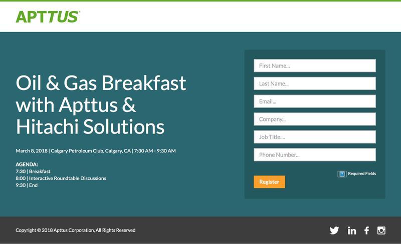 Oil & Gas Breakfast with Apttus!