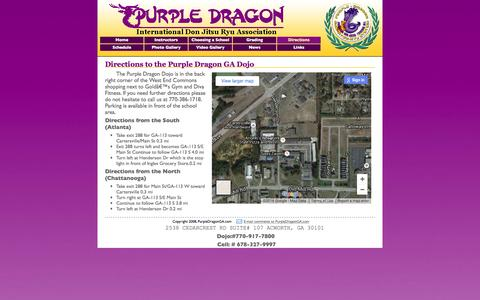 Screenshot of Maps & Directions Page purpledragonga.com - PurpleDragonGA.com - Directions - captured June 13, 2016