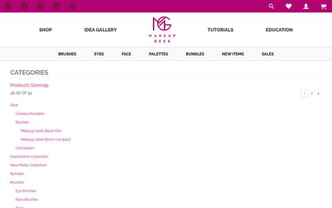 Screenshot of Site Map Page makeupgeek.com - Site Map  - Makeup Geek - captured July 8, 2016