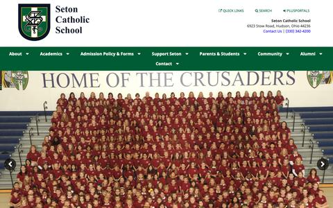 Screenshot of Home Page setoncatholicschool.org - Home :: Seton Catholic School - captured Oct. 20, 2018