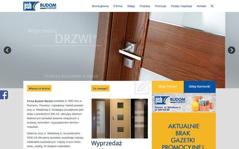 Screenshot of Home Page budom-market.pl - Drzwi Poznań - Market budowlany - Hurtownia budowlana - PSB BUDOM-MARKET - captured Feb. 12, 2016