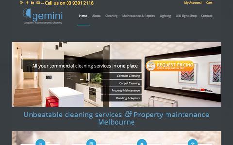 Screenshot of Home Page geminicom.com.au - Prime Property Maintenance Services in Melbourne | Gemini - captured Jan. 27, 2016