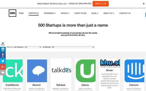 Startups - 500 Startups