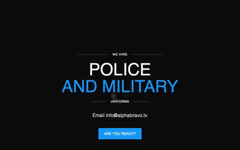 Screenshot of Home Page policeuniformhire.com - Alpha Bravo Police Uniform Hire for Film & Television | Uniformed Professionals | Weapons Trained | Casting And Extras Agencies Northwest | Lemon Casting Manchester | Amourers | Military Advisors - captured Feb. 5, 2016
