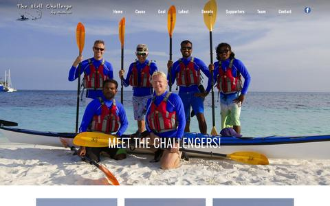Screenshot of Team Page atollchallenge.com - The Atoll Challenge – Supporting the Maldivian Thalassaemia Society |   Meet The Challengers! - captured March 12, 2016