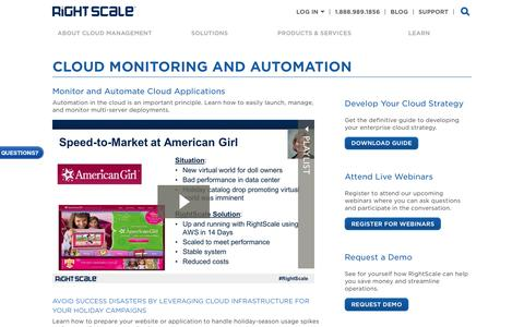 Learn About Cloud Monitoring and Automation | RightScale
